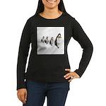 Penguin Parade Women's Long Sleeve Dark T-Shirt