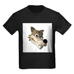 Funny Wolf Face Kids Dark T-Shirt