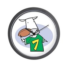 Football Cow Wall Clock