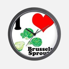 I Heart (Love) Brussels Sprou Wall Clock