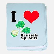 I Heart (Love) Brussels Sprou Infant Blanket