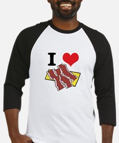 I Heart (Love) Bacon Baseball Jersey
