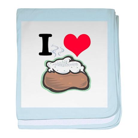 I Heart (Love) Baked Potatoes Infant Blanket