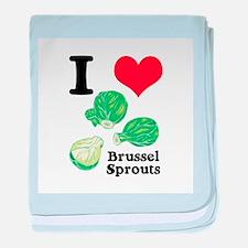 I Heart (Love) Brussel Sprout Infant Blanket