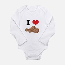 I Heart (Love) Chicken (Drums Long Sleeve Infant B