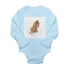 Droopy Bloodhound Long Sleeve Infant Bodysuit