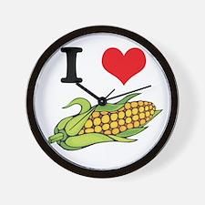 I Heart (Love) Corn (On the C Wall Clock