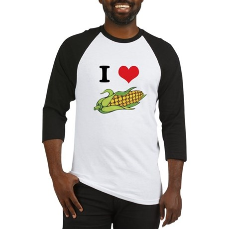 I Heart (Love) Corn (On the C Baseball Jersey