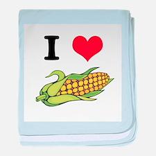 I Heart (Love) Corn (On the C Infant Blanket