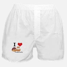 I Heart (Love) Cream Puffs Boxer Shorts