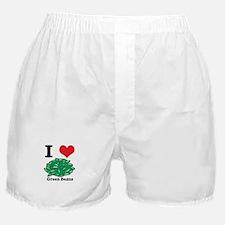 I Heart (Love) Green Beans Boxer Shorts