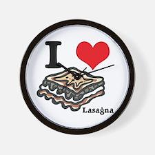 I Heart (Love) Lasagna Wall Clock
