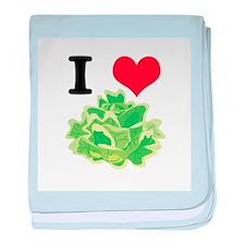 I Heart (Love) Lettuce Infant Blanket