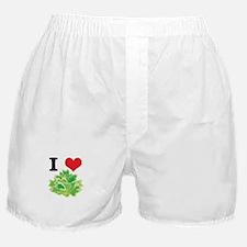 I Heart (Love) Lettuce Boxer Shorts