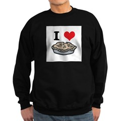 I Heart (Love) Pie Sweatshirt (dark)