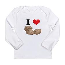 I Heart (Love) Potatoes Long Sleeve Infant T-Shirt