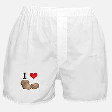 I Heart (Love) Potatoes Boxer Shorts