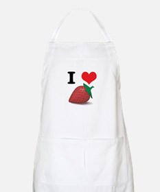 I Heart (Love) Strawberries Apron