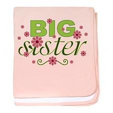 Big Sister Garden Flowers Infant Blanket