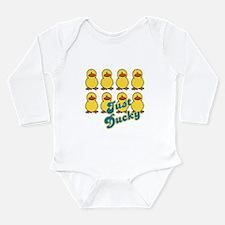Just Ducky Ducks Long Sleeve Infant Bodysuit