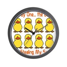 Ducks Stealing My Sanity Wall Clock