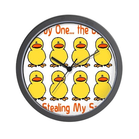 Ducks Stealing My Sanity Wall Clock