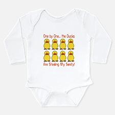Ducks Stealing My Sanity Long Sleeve Infant Bodysu