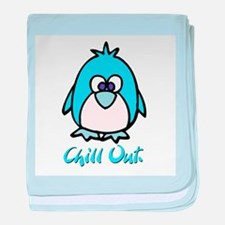 Chill Out Penguin Infant Blanket