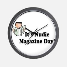 It's Nudie Magazine Day! Wall Clock