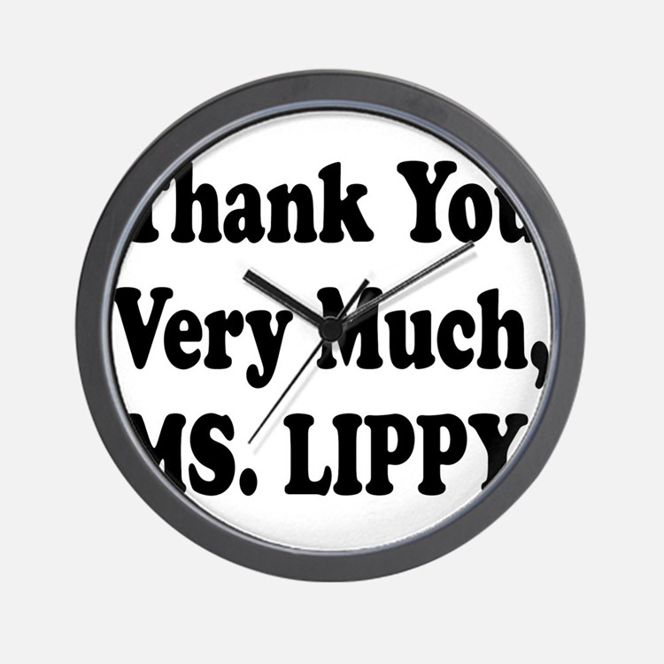 Thank You Ms. Lippy Wall Clock
