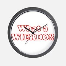 What a Wierdo! Wall Clock