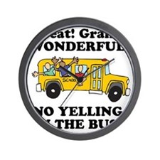 NO YELLING ON THE BUS Wall Clock
