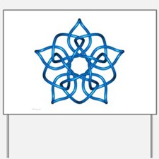 Light Blue Pentagram Yard Sign