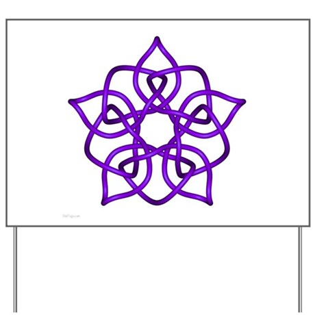Purple Pentagram Yard Sign