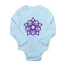 Purple Pentagram Long Sleeve Infant Bodysuit