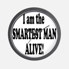 Smartest Man Alive Wall Clock