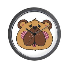 Silly Country Style Brown Bea Wall Clock