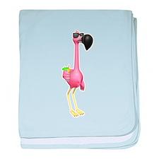 Funny Tropical Flamingo Infant Blanket