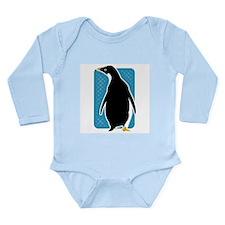 Proud Penguin Long Sleeve Infant Bodysuit