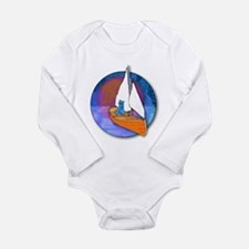 Sail Cat Long Sleeve Infant Bodysuit