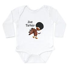Funny Afro Jive Turkey Long Sleeve Infant Bodysuit
