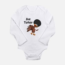 Funny Afro Jive Turkey Long Sleeve Infant Bodysuit