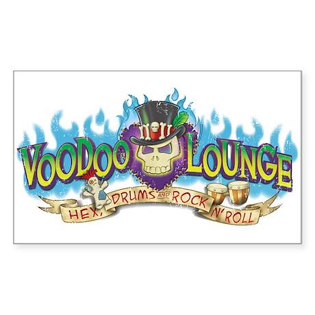 Voodoo Lounge Sticker (Rectangle)