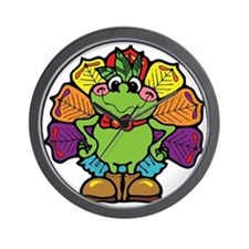 Country Style Turkey Froggy Wall Clock