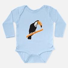 Realistic Toucan Design Long Sleeve Infant Bodysui