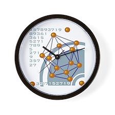 Molecule/Atom Design Wall Clock