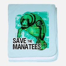Save the Manatees Infant Blanket