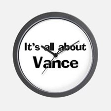 It's all about Vance Wall Clock