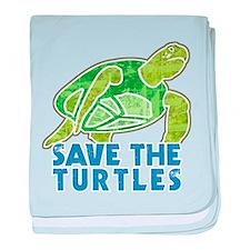 Save the Turtles Infant Blanket