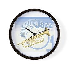 Jazz Trumpet Design Wall Clock